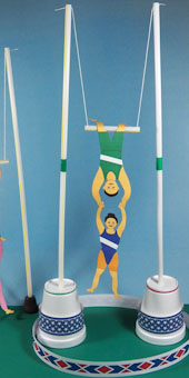 Make A 3d Circus Trapeze Act 3d Paper Crafts Aunt