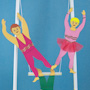3D Paper Circus Trapeze Act