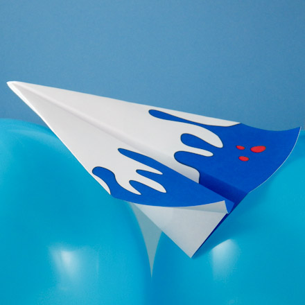 Paper Airplane To Make Floating Wing Glider