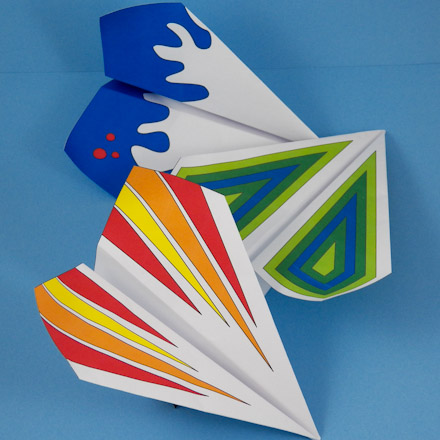 Paper Airplane To Make: Floating Wing Glider - 3D Paper Crafts