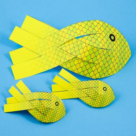 How To Make 3d Paper Fish 3d Paper Crafts Aunt Annie S