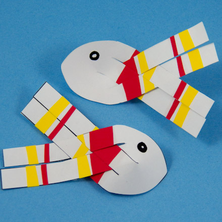 How To Make 3d Paper Fish 3d Paper Crafts Aunt Annie S Crafts