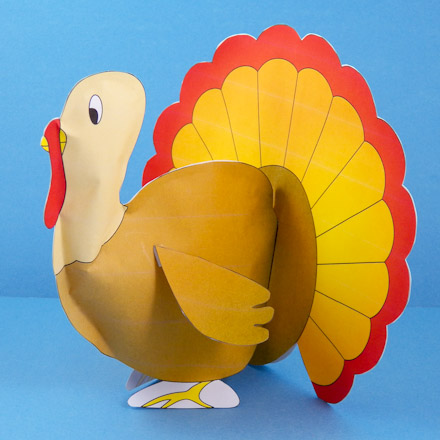 Paper Mache Turkey Craft