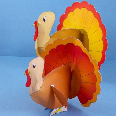 picture relating to Printable 3d Paper Crafts identified as How in the direction of Generate Loaded Paper Turkeys - 3D Paper Crafts - Aunt