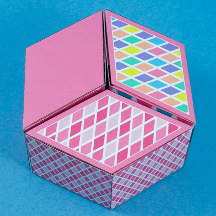 how to make a diamond shaped box boxes and bags aunt annie s crafts