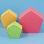 Five-sided boxes with pentagonal top