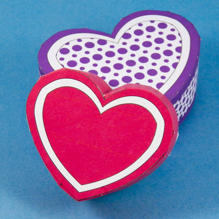 Make A Heart Shaped Box For Valentine S Day Boxes And Bags Aunt
