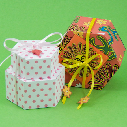Make A Hexagon Box With Patterns Boxes And Bags Aunt Annie's Crafts Mesmerizing Making Decorative Boxes