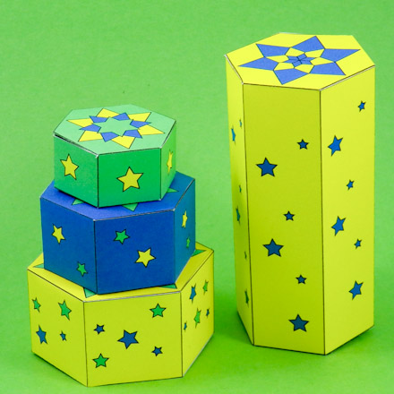 Make a Hexagon Box with Patterns - Boxes and Bags - Aunt Annie\'s Crafts