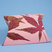 Pillow box with fall leaves