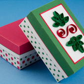 Christmas boxes in red and green