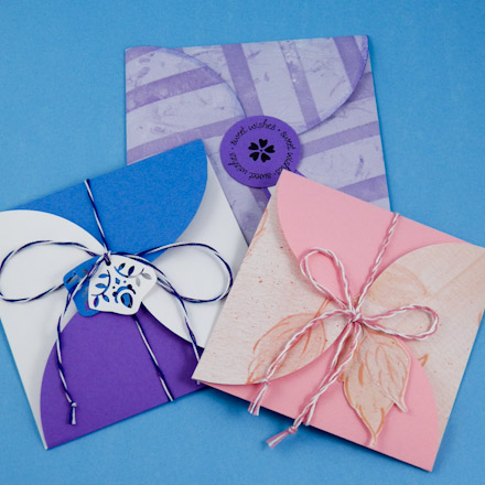 How To Make Square Petal Envelopes