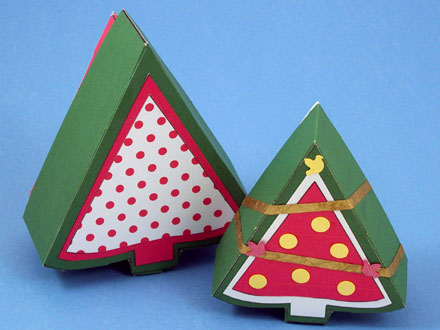 Make Christmas Tree Shaped Box - Boxes and Bags - Aunt Annie's Crafts
