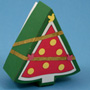 Christmas tree shaped box