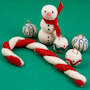 Clay Christmas Ornaments, Magnets and Figurines