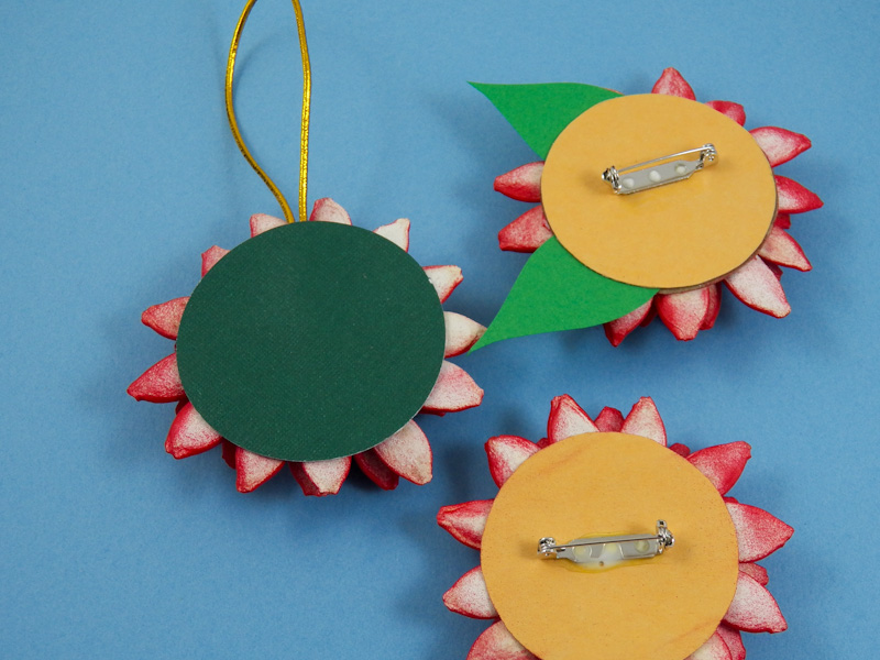 Make Pumpkin Seed Poinsettia Brooch- Friday Fun Craft