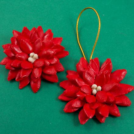 Make Pumpkin Seed Poinsettia Brooch Friday Fun Craft Projects