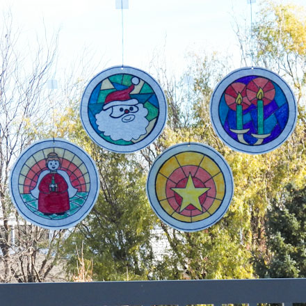 Stained Gl Christmas Decorations