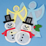 Snowman and Angel Suncatcher Ornaments