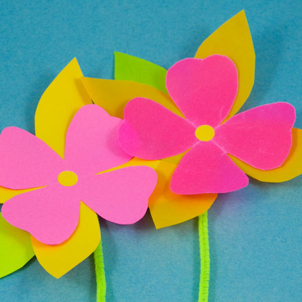 How to make paper flowers friday fun aunt annies crafts waxed paper flowers mightylinksfo Choice Image
