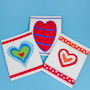 Cut Paper Heart Valentines