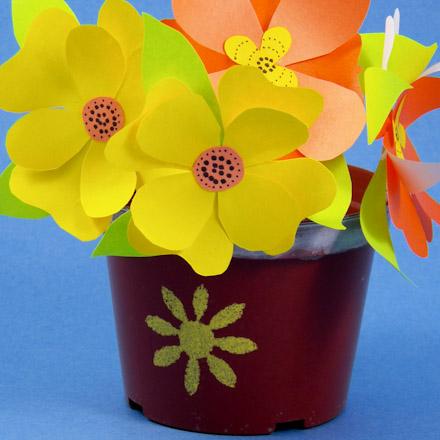 Flower Pot - Scrapbook.com | Paper flowers for kids, Flower crafts, Paper  flowers | 440x440