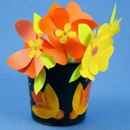 How To Make Stenciled Flower Pots Decorative Crafts Aunt Annie S
