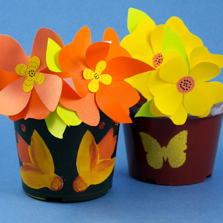 How to make stenciled flower pots decorative crafts aunt annies stenciled flower pots mightylinksfo