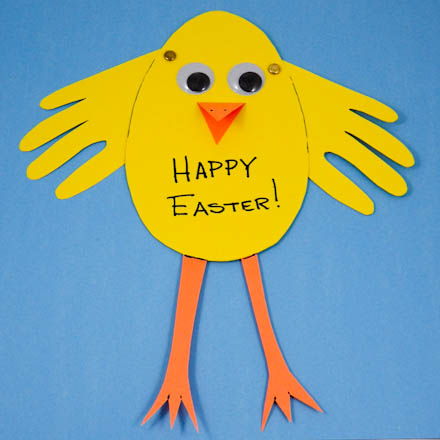 How to Make an Easter Chick Card Easter and Spring Crafts Aunt – Easy Easter Cards to Make