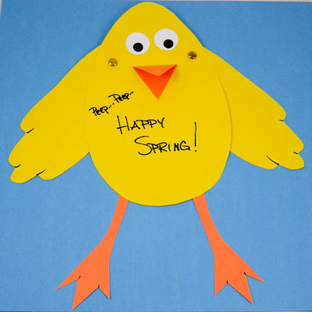 How to Make an Easter Chick Card Easter and Spring Crafts Aunt – How to Make a Easter Card