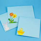 Easter envelope patterns - chick, bunny and flowers