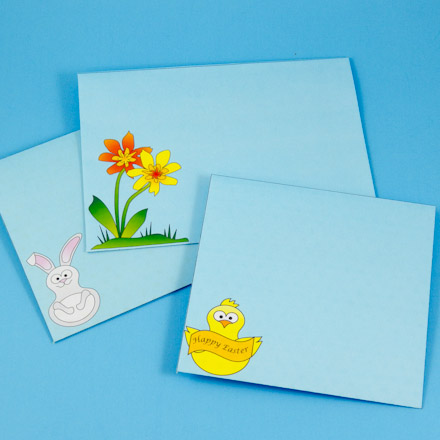 envelopes with bunny chick and flower designs - Decorative Envelopes