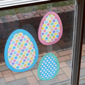 Dotted Easter egg suncatchers
