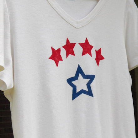 stenciled stars pattern for t shirts fourth of july crafts aunt