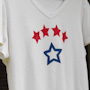 Stenciled T-shirts with stars