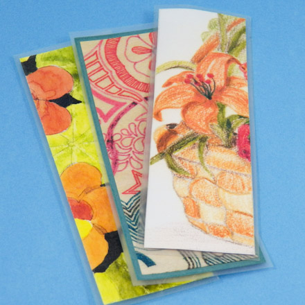 Make Recycled Artwork Bookmarks Friday Fun Craft Projects Aunt