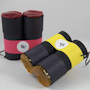Multicolor binoculars made with toilet paper tubes