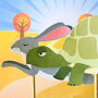 Tortoise and hare clip art puppets