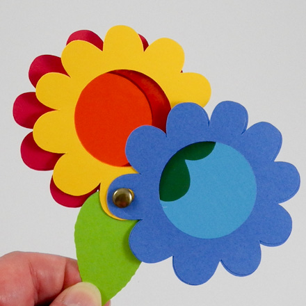 Spy Glass Color Wheel Made With Flower Die Cuts