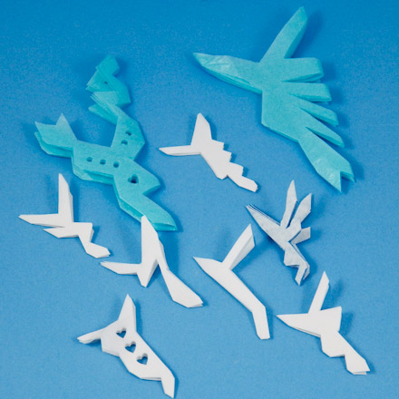 Snowflake Shaped Writing Paper Tip: vary your v-shape cuts