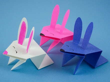Make A Jumping Origami Bunny