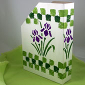 Stenciled Magazine Holder