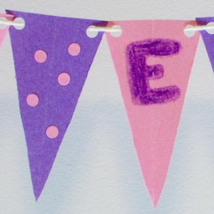 how to make a pennant flag banner