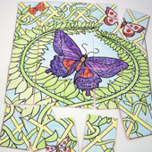 Butterfly picture puzzle