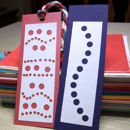 Make punched bookmarks from recycled paper friday fun How to make a simple bookmark