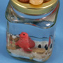 Snow scene in a jar