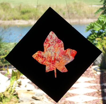 How To Make Stained Glass Leaves Friday Fun Craft Projects Aunt