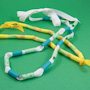 Drinking straw bead necklaces