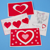 Easy Valentine Cards made with cut outs