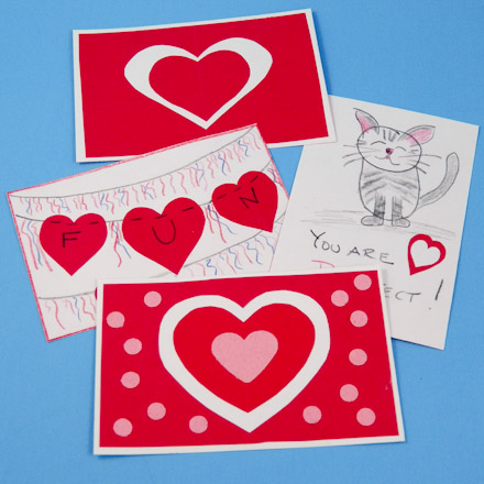 Easy Valentine Card With Heart Cutouts